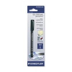 Lumocolor CD/DVD pen, fin - blister noir