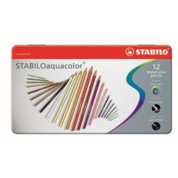 STABILOaquacolor® metal box 12 pcs