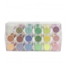 LOT 18 TUBES PAILLETTES COULEURS VIVES 18 X 16 GR