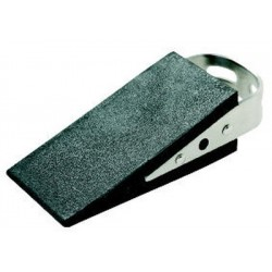 Arrêt de porte Alco cunéiforme en caoutchouc noir, 160 gr avec poignée en métal