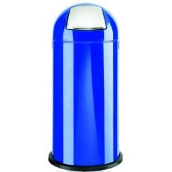 Poubelle pushboy Alco 84cm haut 37m rond bleu 52ltr