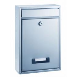Boîte aux lettres en acier Alco inoxydable argent 322x215x85mm
