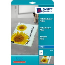 Film inkjet Avery A4 170 micron boite 10 flles autocoullant