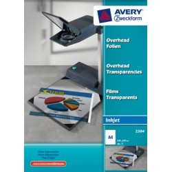 Film inkjet Avery A4 110 micron boite 50 flles autocoullant