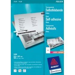 Film pour copier Avery A4 140 micron 100 flles transparent