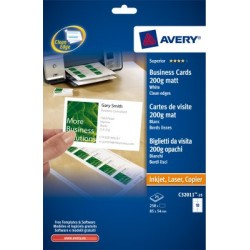 Cartes de visite Quick-Clean Avery 85x54mm 200gr 25 feuilles