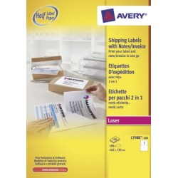 Etiquettes opaques Avery 182x130mm 100 flles blanc