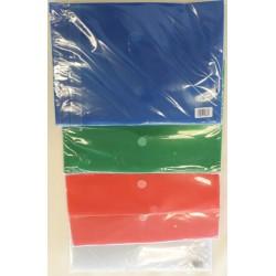 Enveloppe plastic PP A4 AVEC SCRATSH ASSORTIE